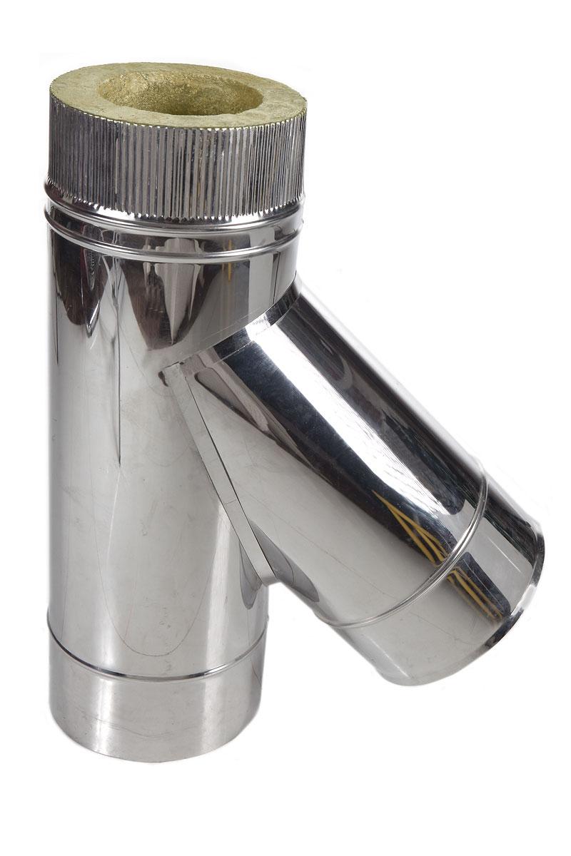 Тройник подключения 45° D300 мм Нерж AISI430 0.5 мм
